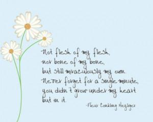 Not flesh of my flesh -- Fleur Conk ling Heyliger adoption quote ...