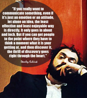 """... it can be written, or thought, it can be filmed."""" ~Stanley Kubrick"""