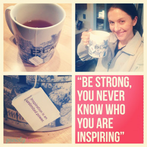 Enjoyed some peppermint tea and felt really inspired by these quotes ...