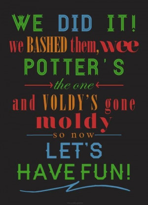 Voldy's gone moldy!!! Oh Peeves