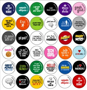 Home » Gifts & Gear » Buttons » Technology, Geek and Nerd Sayings
