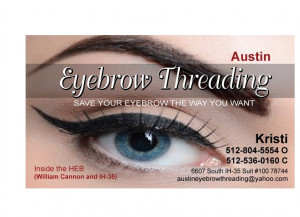 Austin Eyebrow Threading - Business Card - Austin, TX, United States