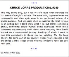 chuck lorre productions, #389