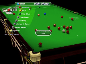 World Championship Snooker 2003 Demo - Choose the type of game that ...