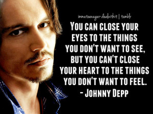 Johnny Depp Teenager Quote