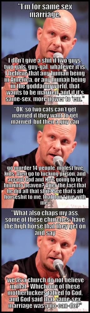 Stone Cold Steve Austin on same-sex marriage [via]