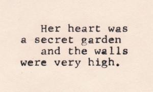 love, quotes, secret garden, sweet, text