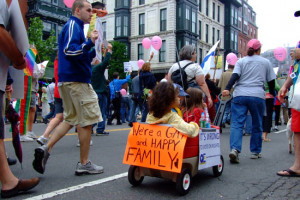 ... to three decades of research kids of gay parents are doing just fine