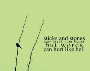 Words Hurt Quotes http://weheartit.com/entry/12939360