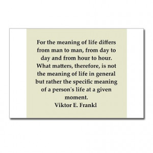 ... > Education Postcards > Viktor Frankl quote Postcards (Package of 8
