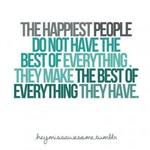 The happiest people..