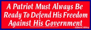 Anti Government Quotes A patriot must always be ready