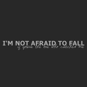not afraid to fail if you're the one who catches me