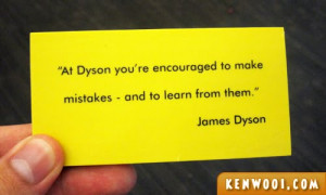 James Dyson, Don't Fire Me!