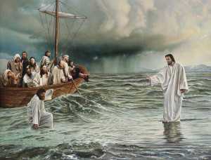 Jesus Walking on Water by Benjamin McPherson