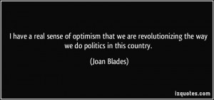 have a real sense of optimism that we are revolutionizing the way we ...