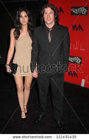 Wes Borland and wife Heather at the Launch Party for Wes Borland's ...