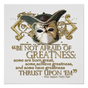 Twelfth Night Quote (Gold Version) Print