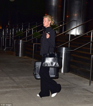 Sandra Lee, pictured leaving her hotel in the early hours of Tuesday ...