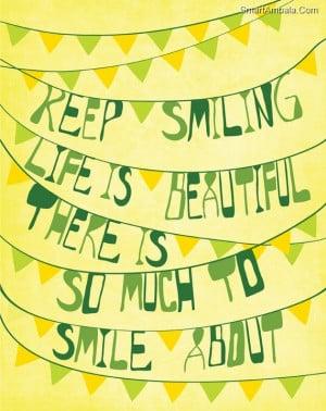 Smiling Because