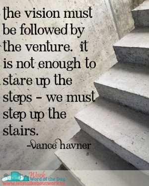 Work Word of the Day 1/15/13 Vance Havner Quote