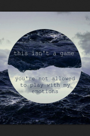 emotions - NOT A GOOD THING TO DO!!!