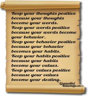 your behavior. Keep your behavior positive because your behavior ...
