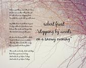 Poem quote Poetry Robert Frost Miles to go art Winter poet snow photog ...