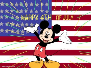 Mickey Mouse Happy 4th of July