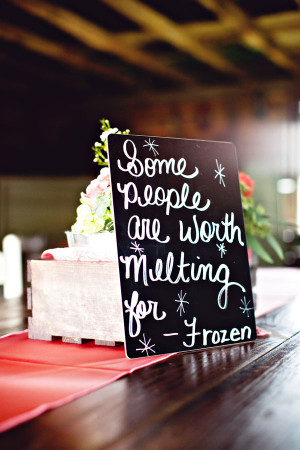 Display love quotes from your favorite movies on your reception tables ...