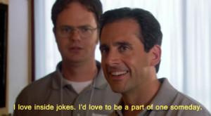 the office funny dwight Michael inside jokes