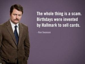 Ron Swanson Birthday