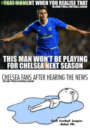 Frank Lampard wont be playing for Chelsea from next season