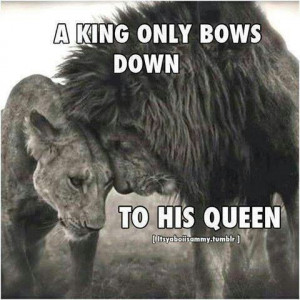 The king and his Queen.