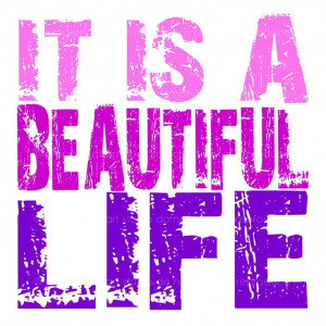 its a beautiful life