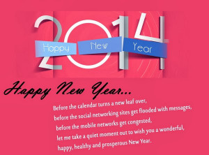 2014 happy new year before the calendar turns a new