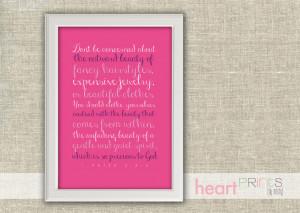 Inner Beauty Quotes Bible Girls inner beauty wall art
