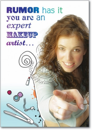 Makeup Artist Funny Birthday Card Nobleworks