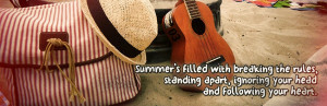 Awesome summer quote on image