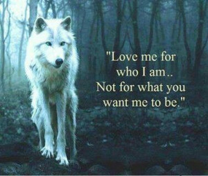 Love the quote and wolf