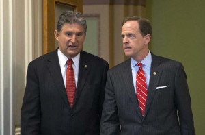 Senators Joe Manchin and Pat Toomey courtesy businessinsider.com