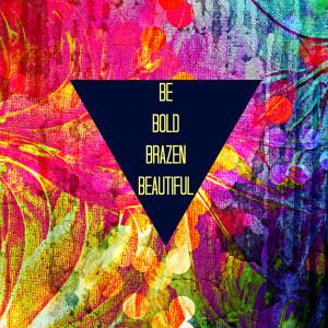 ... Hipster Geometric Triangle Colorful Rainbow Fine Art Art Print