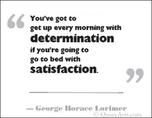 Get Up Every Morning With Determination - Note Card