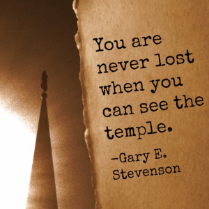 You are never lost when you can see the temple.