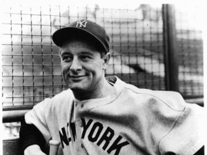 Lou Gehrig, the hall-of-fame American baseball player whose lateral ...