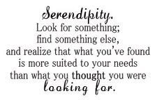 love when Serendipity happens!