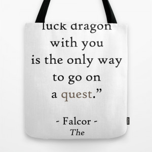 Falcor Neverending Story Bastian Childlike Empress Movie Quote Tote ...