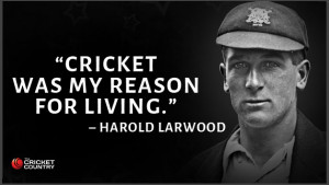 Harold Larwood.