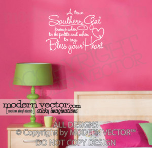 Details about Southern Gal Quote Vinyl Wall Quote Decal SOUTHERN GAL