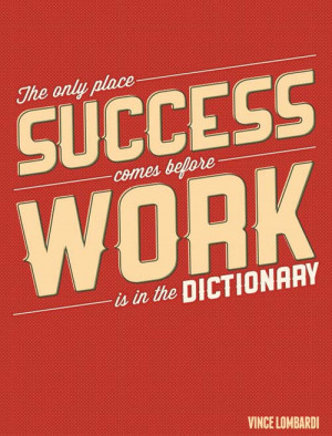 Motivation and Success Typography Picture Quote by Vince Lombardi